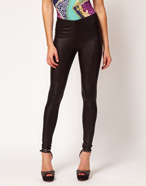 ASOS | ASOS Leggings In Leather Look at ASOS