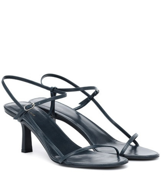 The Row Bare leather sandals in blue