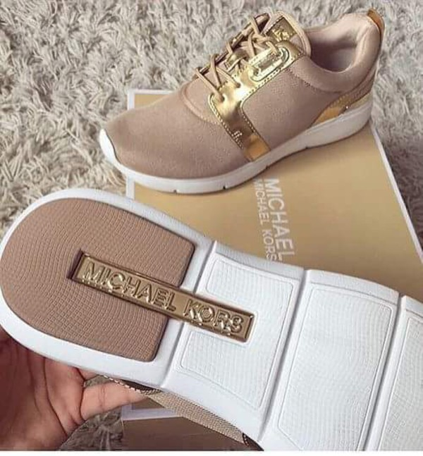 Shoes Michael Kors Shoes Nude Sneakers Suede Sneakers