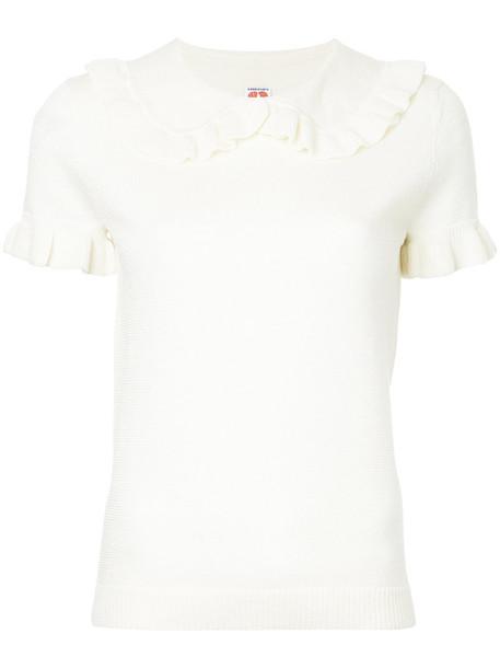 jumper short women white sweater
