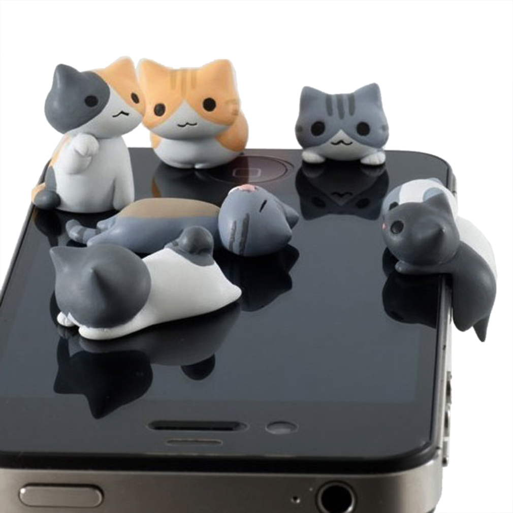 Cute Cat 3 5mm Anti Dust Earphone Plug Headset Cover Stopper Cap iPhone 4 4S S9 | eBay