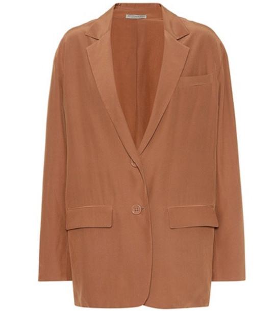 Bottega Veneta Silk blazer in brown