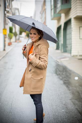 gal meets glam blogger duffle coat camel coat