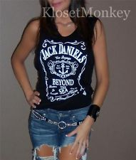 Sexy Jack Daniels Black Muscle Sleeveless Tank Soft Knit TEE TOP Small S | eBay