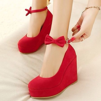 shoes wedges red shoes redwedges