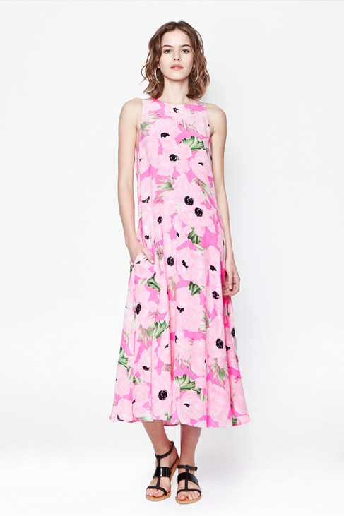 Holiday Poppy Silk Maxi Dress - Collections - French Connection Usa