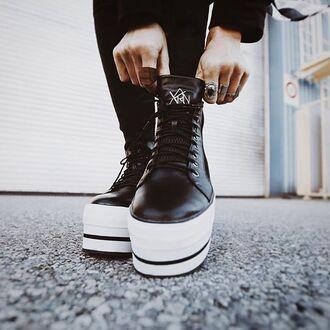 shoes sneakers platform shoes zooji fashion style trendy edgy yru