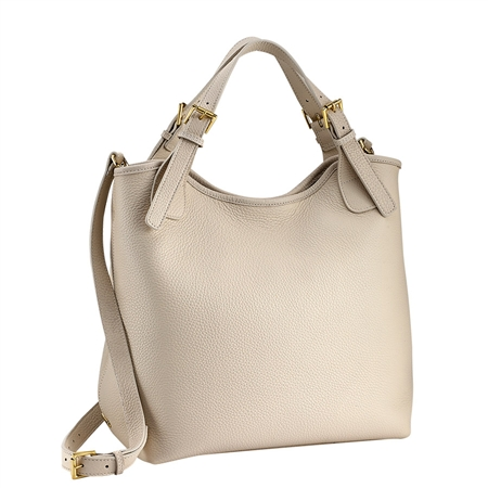 Ivory Olivia Shopper | Pebble Grain Leather | GiGi New York