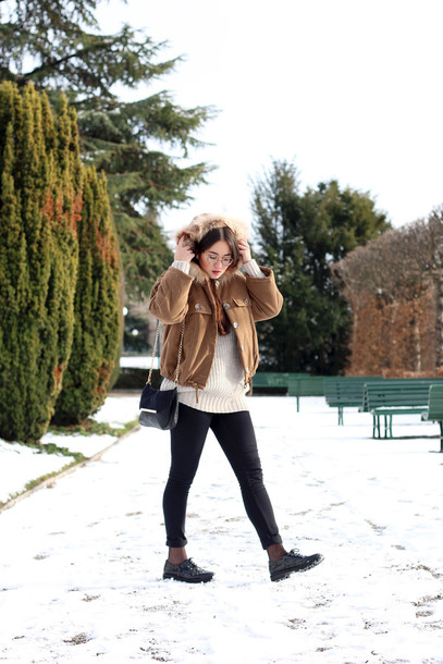 blaastyle blogger winter jacket camel