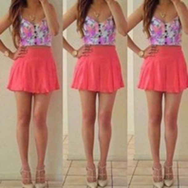 Skirt top cute summer outfits shirt - Wheretoget