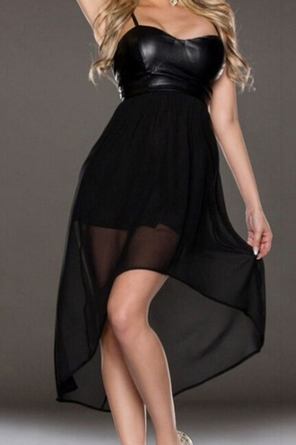 dress black dress leather dress leather