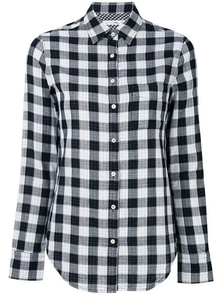 Rag & Bone /Jean shirt checked shirt women cotton black top