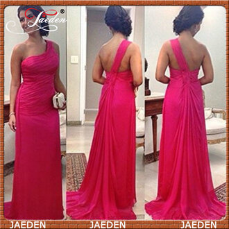 one shoulder prom dress red dress