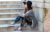 madame rosa,blogger,vans,gold,embellished,denim,hat,embellished denim