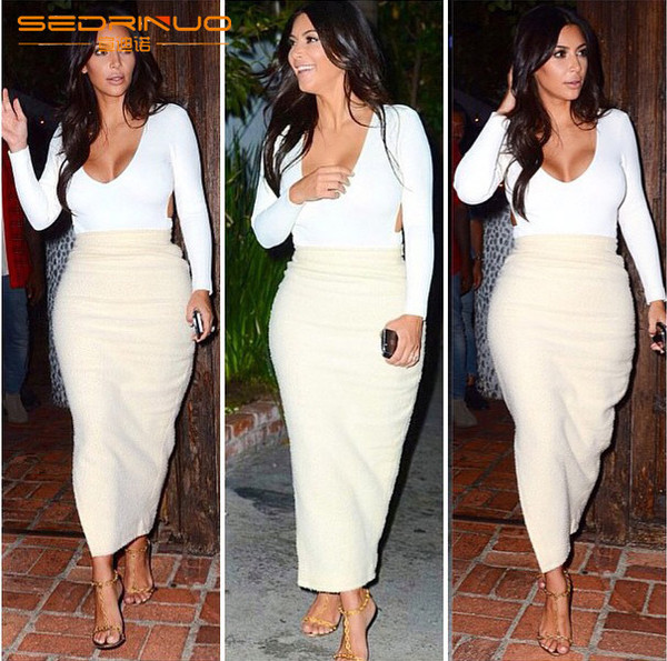 two-piece kim kardashian women sexy club dress