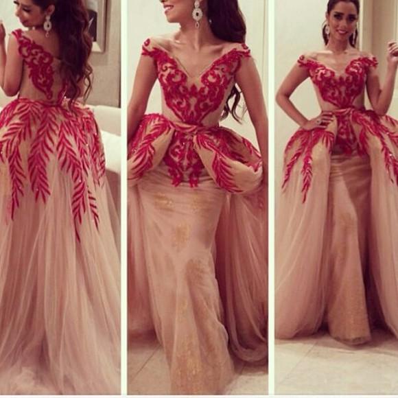 arabic style red dress arabic dresses badges