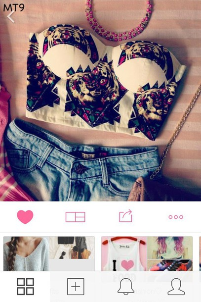 top print colorful halter neck bandeau girly summertime musthave belly shirt belly top