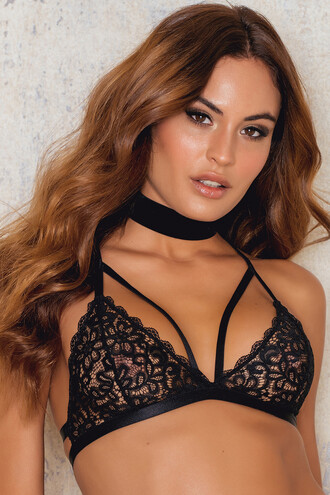 bra strappy bra triangle back strappy underwear