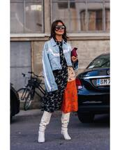 jacket,tassel,cropped jacket,multicolor,midi dress,boots,bag,sunglasses