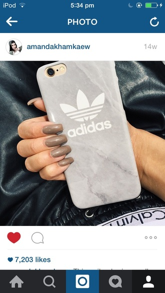 phone cover adidas iphone iphone case grey white adidas case