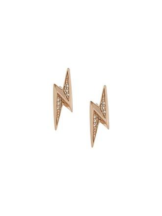 mini women earrings stud earrings yellow orange jewels