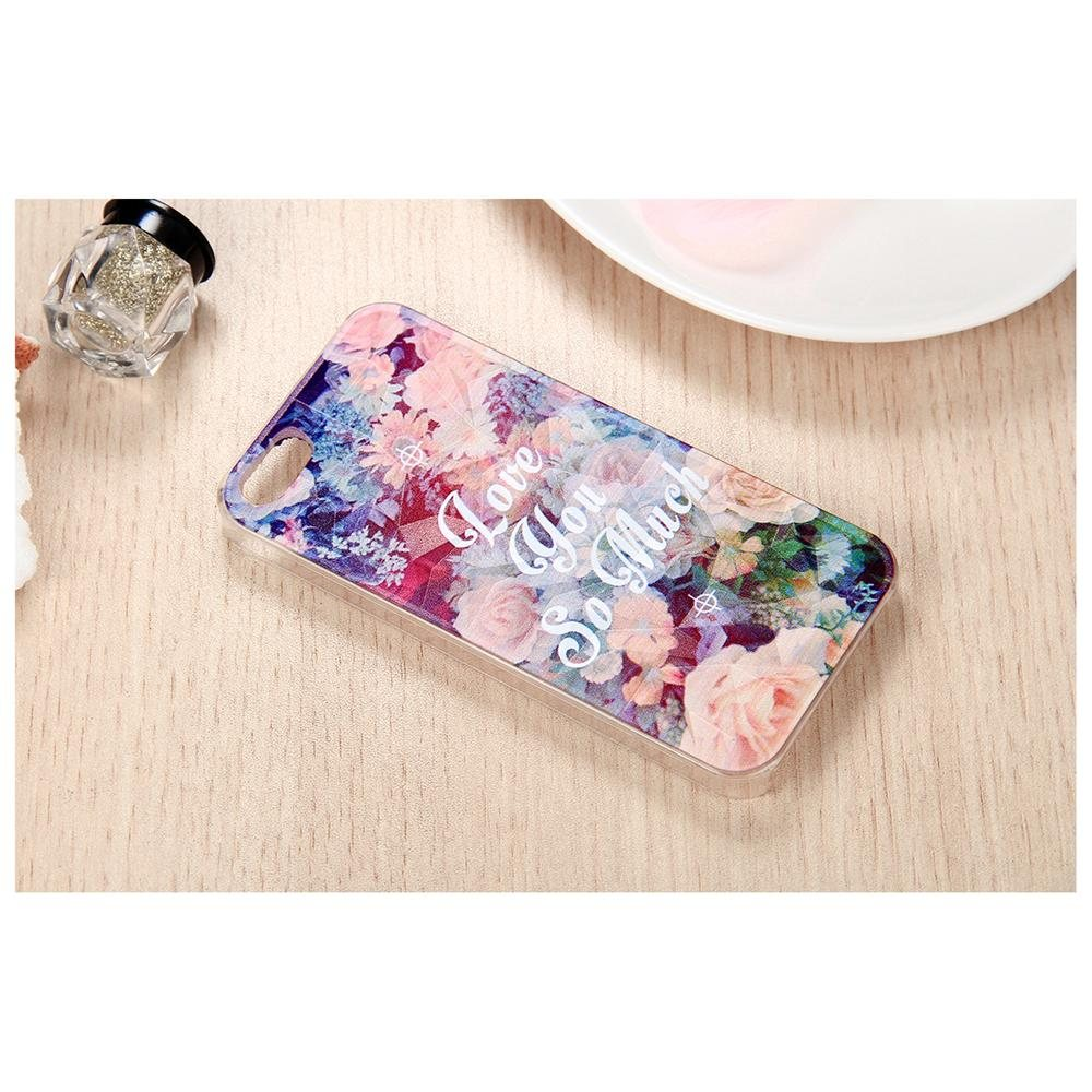 Rakuten.com:Boniskiss|Boniskiss 3D Luxury Girls Flower Printing Love You So Much Pattern Hard Case Back Cover Protector Skin for iPhone 5 5s|Uncategorized