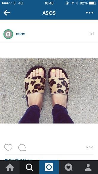 shoes asos leopard print shoes sandals shoes
