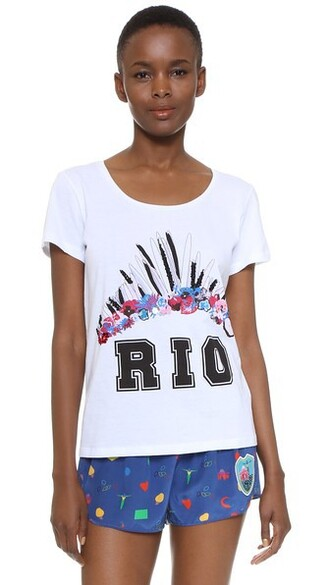 t-shirt shirt printed t-shirt embellished top