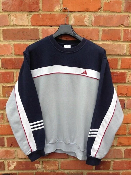 Sweater Grey Red Adidas White Blue Black Girl