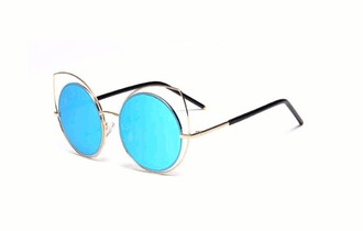 sunglasses contacts frames glasses blue toned pastel sunnies fashions style gigi hadid ariana grande grande ocular circular circle