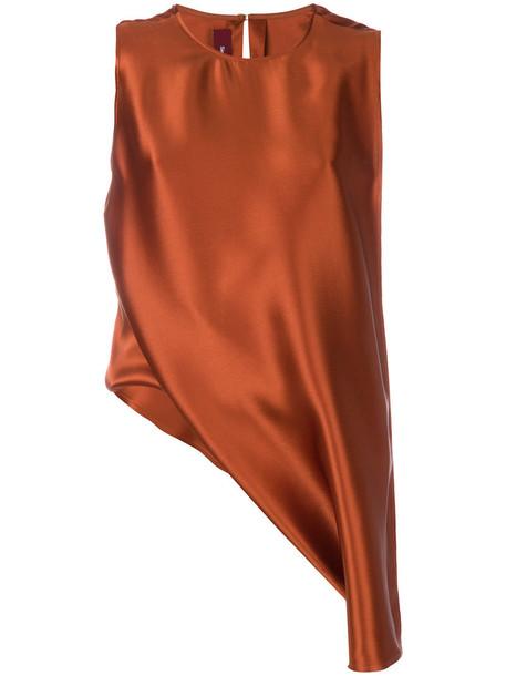 SIES MARJAN top women silk yellow orange