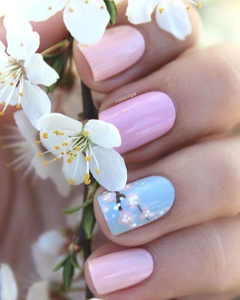 nail accessories, nail polish, tumblr, pastel, nails, nail art ...