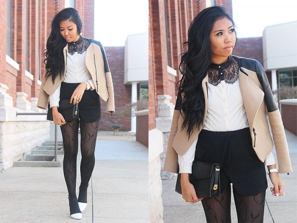 Blazer Design Skirt - OASAP.com