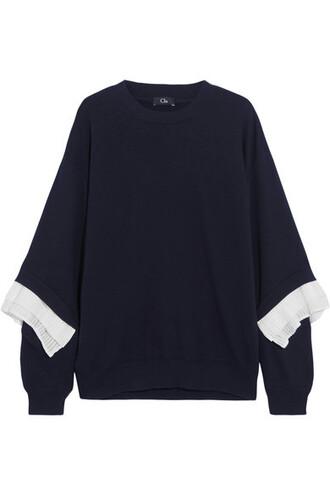 sweatshirt navy cotton sweater