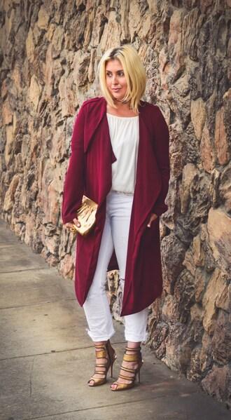 katwalksf blogger jacket coat top jeans