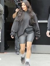 sweater,hoodie,shorts,kim kardashian,kardashians,streetstyle,sneakers
