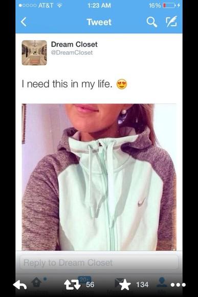 mint tiffany jacket zip up