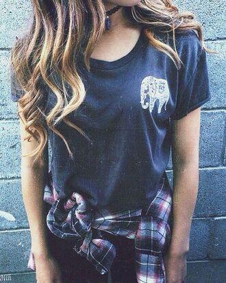 t-shirt embroidered t shirt blue t-shirt shirt tartan shirt embroidered t-shirt