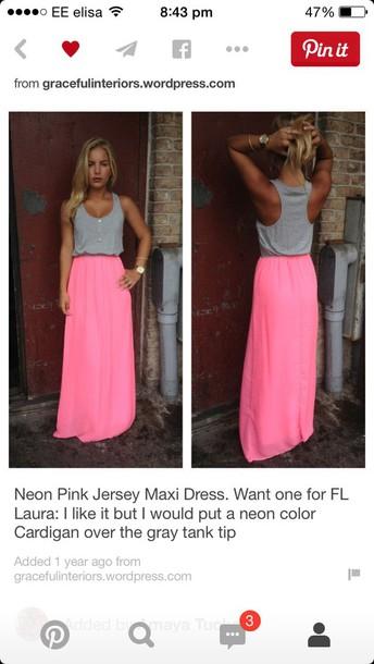dress neon dress maxi dress