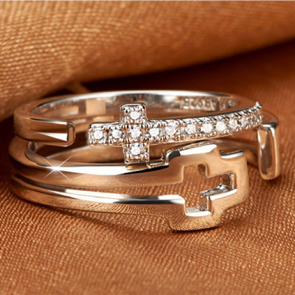 Engraved sterling silver wedding rings set for man and for Promise engagement wedding ring set