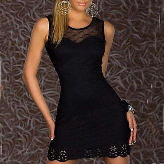 dress nice round collar cotton and spandex dress