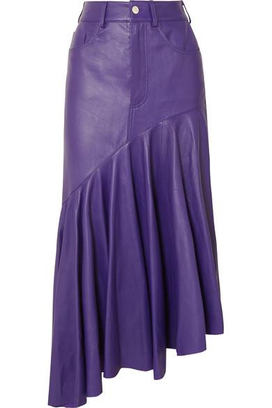 Solace London - Noe asymmetric leather skirt