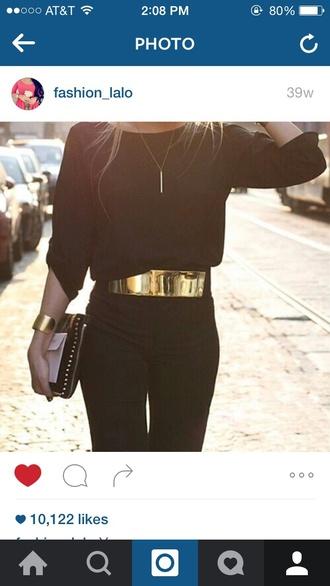 belt waist belt casual dressy outfit black