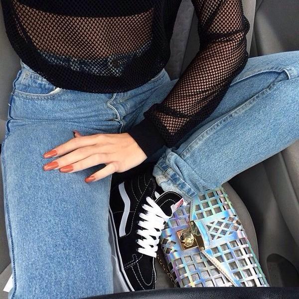Shoes black sneakers tumblr sportswear shirt - Wheretoget