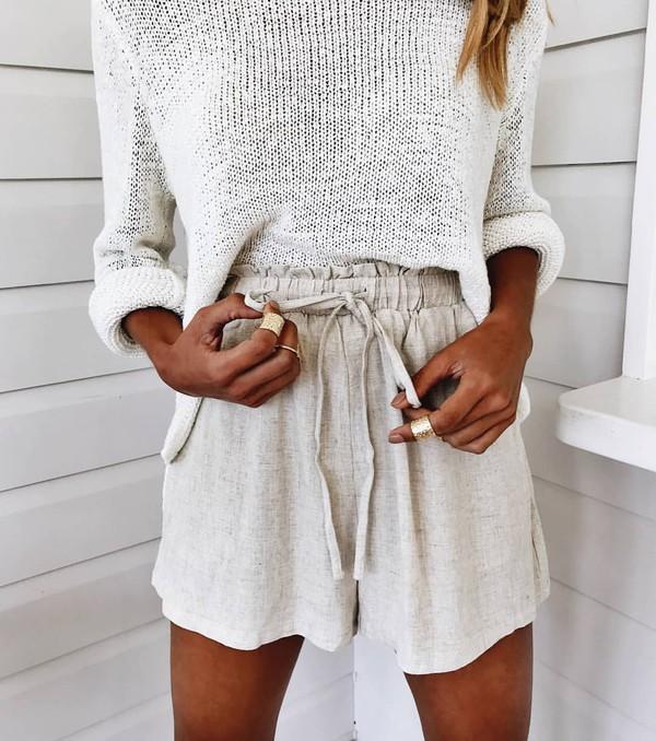 shorts beige shorts