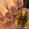 Toasted almond pastel brown/nude/ivory creme nail polish quick dry formula