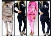 jumpsuit,tracksuit,velvet,chanel