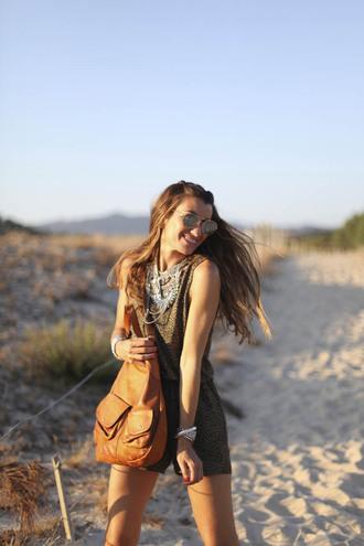 b a r t a b a c blogger romper shoes jewels sunglasses bag