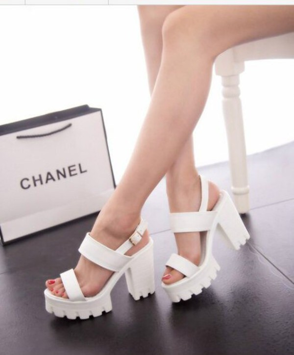 shoes white sandals