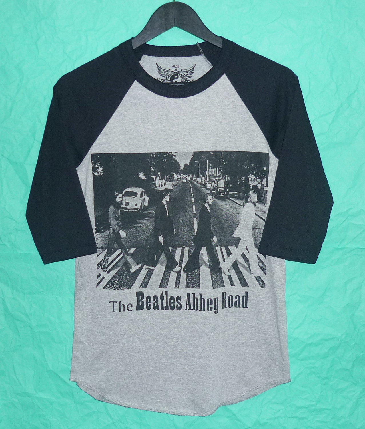 The beatles raglan on sale tshirt music s,m,l,xl abbey road gray black tee /crewneck/ baseball shirt/ men tee/ women t shirts ,black teen l